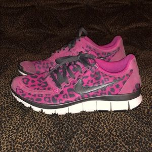 Pink Cheetah Nike Free 5.0
